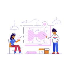 couple engineer workers vector image