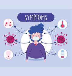 Covid 19 coronavirus infographic sickness patient vector