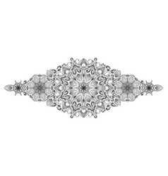 decorative floral mandala border element on white vector image