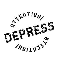 Depress rubber stamp vector image