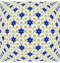 Design colorful flower decorative pattern vector image