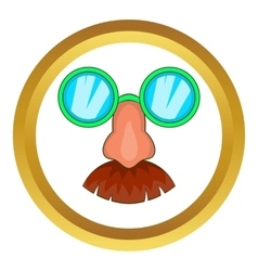 Disguise mask icon vector image