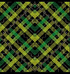 embroidery modern greek key seamless pattern vector image