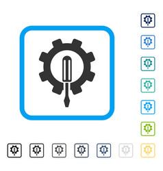 Engineering framed icon vector