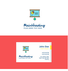 flat presentation chart logo and visiting card vector image