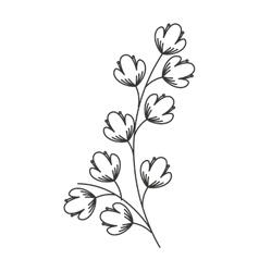 Flowers wreath isolated icon design vector