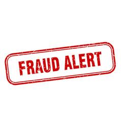 fraud alert vector image