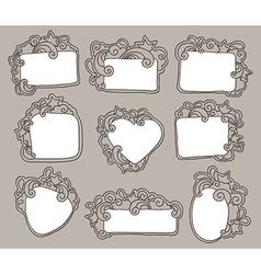 Funky frames set vector
