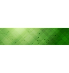Green tech banner with circuit board vector image