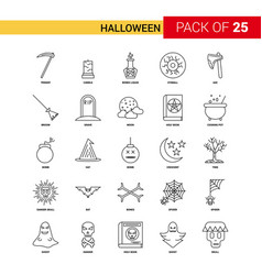 Halloween black line icon - 25 business outline vector