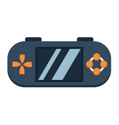 Handheld game console flat icon controller vector