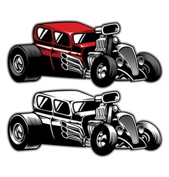 Hotrod custom car vector