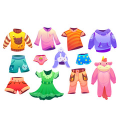 kids fashion clothes for boys and girls vector image