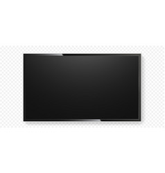 lcd tv screen isolated transparent background vector image