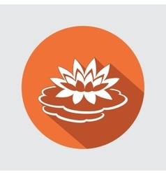 Lily flower icon water-lilies waterlily floral vector