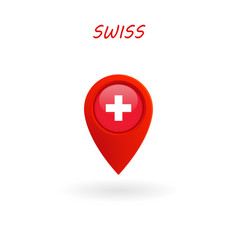 Location icon for swiss flag eps file vector