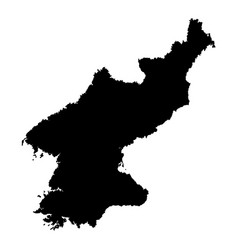 Map of north korea outline vector