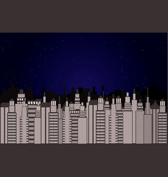 Modern beautiful city the vector