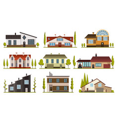 modern country homes for booking and living vector image