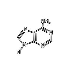 molecule hand drawn sketch icon vector image
