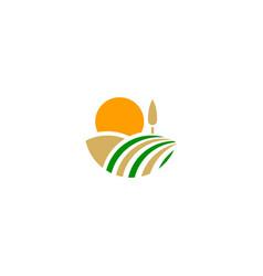 nature landscape farm company logo vector image