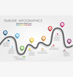 Navigation roadmap infographic timeline concept vector