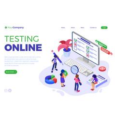 Online survey questionnaire form or test vector