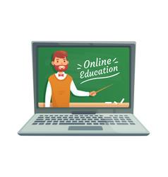 Online teacher education professor teach at vector
