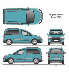 Peugeot partner tepee 2015 passenger van vector
