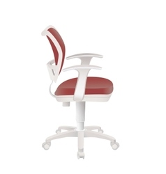 Red office chair isolated on white vector
