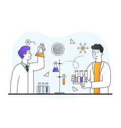 Science experiment in laboratory vector