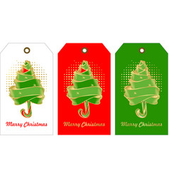 set of christmas tags vector image