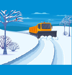 Snow transport vector