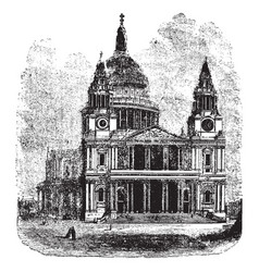 St pauls london the anglican cathedral on ludgate vector