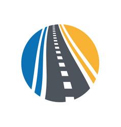 Street logo combination pathway vector