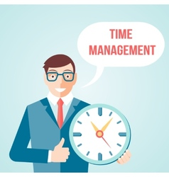 Time management poster vector