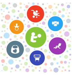 toddler icons vector image