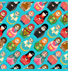 traditional russian doll matryoshka toy nesting vector image
