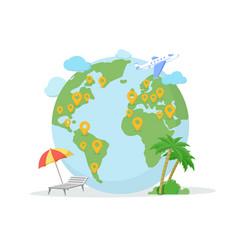 Traveling destination location flat vector