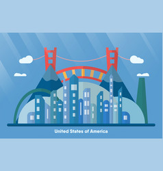 usa landmarks for travelling with urban city vector image