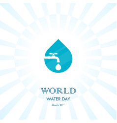 Water drop and water tap icon logo design vector