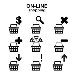 Web shopping icons vector