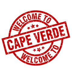 Welcome to cape verde red stamp vector