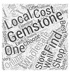 Wholesale gemstones Word Cloud Concept vector