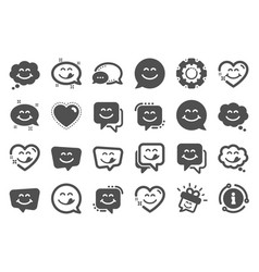 Yummy smile icons emoticon with tongue lick mouth vector