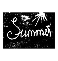 chalk texture word summer vector image