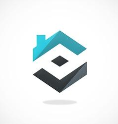 home realty construction logo vector image