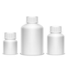 white medicine pill bottles vector image vector image