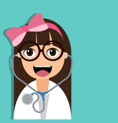 doctor cartoon character vector image