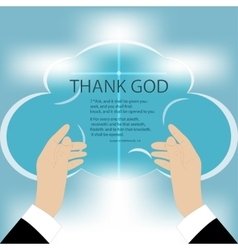 Hands to God vector image vector image